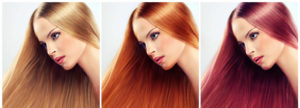 3 different hair colours on same beautiful lady