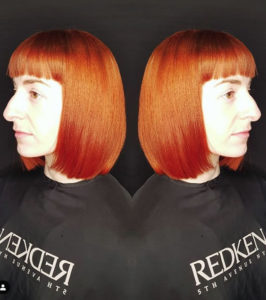 Intense copper tones on girl back to back